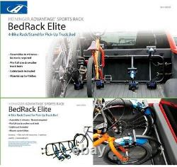 120 lbs. Capacity Elite 4-Bike Truck Bed Side Carrier/Rack with 24 Cable Lock