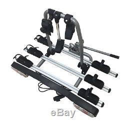 1pc 44 lbs/20 kg Tow Bar Mounted 3 Bike Rack Cycle Carrier Aluminium UK Stock