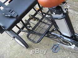 20 Jorvik Adult or Child Carrier Electric Tricycle Bicycle Black