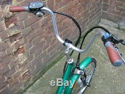 20 Jorvik Adult or Child Carrier Electric Tricycle Bicycle Metallic Green