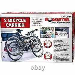 2 Bicycle Carrier Car Rack Bike Trailer Tow Bar Cycle Universal Saloon Bn