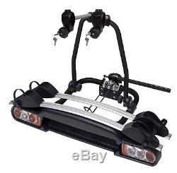 2 Bike Cycle Carrier Rack Car Towball Towbar Mount Tiltable Fully Lockable