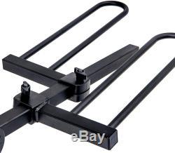 2-Bike Hitch Mount Platform Bike Rack Carrier Compact Folding Design