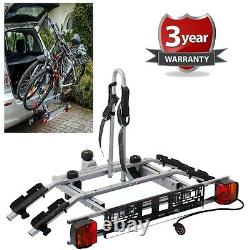 2 Bike Platform Cycle Carrier 45KG Load Carrier Electric Bikes Adult Children