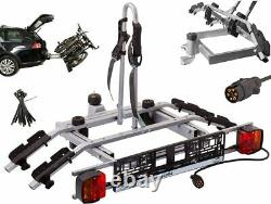 2 Bike Rack Bicycle Cycle Carrier Car Towbar Mounted Tilting 7 Pin Plug