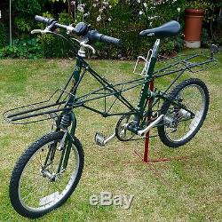 2 Moulton/pashley Landrover Apb Bikes With Front And Rear Carriers & Panniers