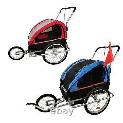 2 in 1 Child Jogger Stroller Bike Trailer Carrier for Children Kids up to 40kg
