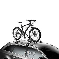 2x Thule Universal Lockable Roof Mounted ProRide 591 Cycle Carrier Bike Rack