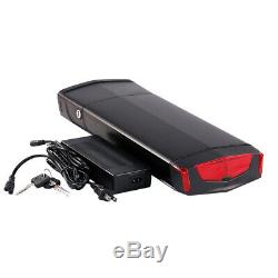 36V 13AH 350W 500W Rear Carrier Lithium li-ion Bicycle Electric Battery LED Bike
