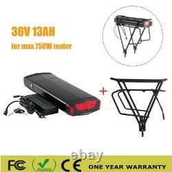 36V 13AH 500W-750W Electric Bicycle Lithium Battery LED EBike +Carrier Rear Rack