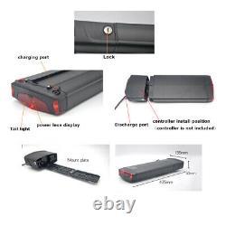 36V 13AH Electric li ion Ebike Battery LED Rear Carrier Rack Battery 500W Motor