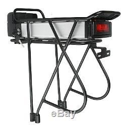 36V 13Ah Li-ion Electric E-Bike Battery Pack Bicycle Lockable + Carrier Bracket