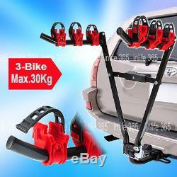3 BIKE REAR TOWBAR MOUNT CYCLE BICYCLE CARRIER CAR RACK TOW BAR TOWBALL New Item
