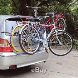 3 Bicycle Bike Car Cycle Carrier Rack Hatchback Rear Mount Mounted Universal