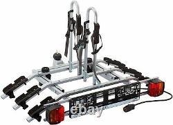 3 Bike Rack Bicycle Cycle Carrier Car Towbar Mounted Tilting 7 Pin Plug