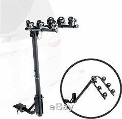 3-Bike Rack Standard Hitch Mount Carrier Quick Release Handle, Double Folding