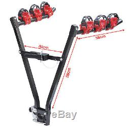 3 Bike Rear Towbar Mount Cycle Bicycle Carrier Car Rack Tow Bar Towball New