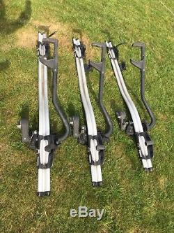 3 x Thule ProRide 591 Cycle Bike Carrier Roof Mounted + keys + instructions
