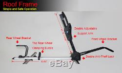 3x Bike Roof Rack Cycle Carrier Holder Locking Universal Mounted Bars Upright