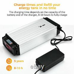 48V 20Ah 1500W LED Electric Bicycle Li-Ion Battery E-Bike + Rear Carrier+Charger
