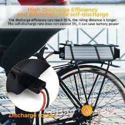 48V 20Ah 1500W Rear Rack Carrier Lithium E-bike Battery Pack 18650 Cells 50A BMS