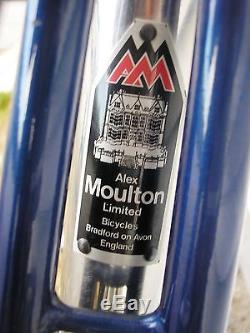 Alex Moulton New Series with Stainless Rear Day Bag Carrier, Dura-Ace, Hope Hubs