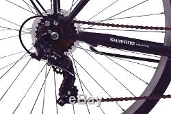 Ammaco Madrid 700c Womens Hybrid City 7 Speed Bike Carrier Rack Black 21 Frame