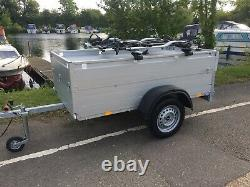 Anssems GT 750 201 HT Camping Trailer With 4x Thule Proride Cycle Carriers