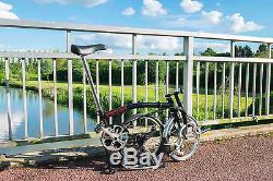 BROMPTON FOLDING BIKE T3 (VGC) 3 SPEED with luggage carrier and dynamo lights