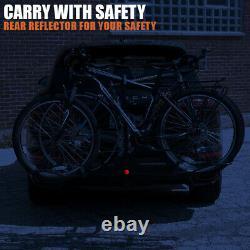 BV 2-Bike Hitch Mount Rack Carrier for Car SUV Tray Style Smart Tilting Design