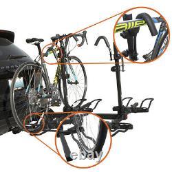 BV 4-Bike Rack Hitch Mount Carrier for Car SUV Tray Style Smart Tilting Design