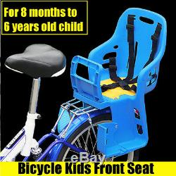 Bicycle Kids Child Back Baby Seat bike Carrier Safty Belt with Handrail 25KG