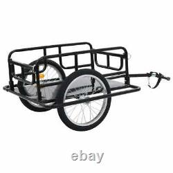 Bike Cargo Trailer Steel Black Bicycle Cycling Storage Camping Luggage Carrier