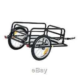 Bike Cargo Trailer Steel Framed Large Bicycle Transport Storage Hitch Carrier