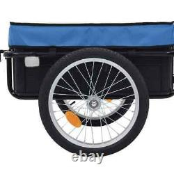 Bike Cargo Trailer Steel Hand Wagon Bicycle Cycling Camping Luggage Tool Carrier