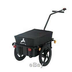 Bike Cargo Trailer Utility Steel Luggage Carrier Bicycle Storage Box Transport