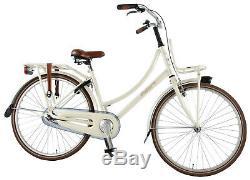 Bike Dutch Excellent 26 Inch Girls Front V-Brake Frame 43 cm Carrier Pearl