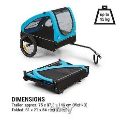 Bike Trailer Cargo Transport bycicle cart foldable luggage carrier Blue