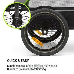 Bike Trailer Cargo Transport bycicle handcart foldable luggage carrier Green