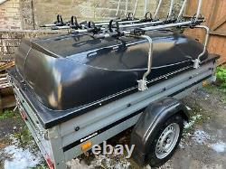 Brenderup 1205S Camping Trailer, Load Bars, ABS Lid, Thule Cycle Carriers