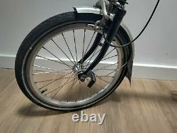 Brompton Folding Bike M3L Black 2014 With Front Carrier Block and Cover