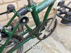 Brompton M5R 5 Speed with Rear Carrier Green Folding Bike Worldwide Shipping