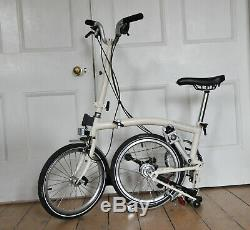 Brompton M6L Ivory 2018 Minimal use Front carrier block 6 gears