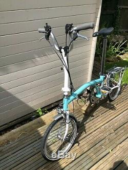 Brompton M6L Pale Green/White 2012 very light use rear carrier 6 gear block