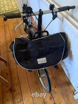 Brompton m3L folding bike 3 speed with front carrier
