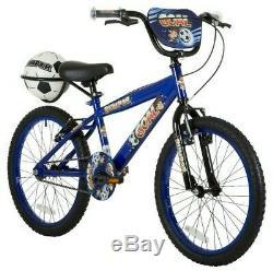 Bumper Goal 20 Wheel Boys BMX Junior Bike Blue With Football & Carrier