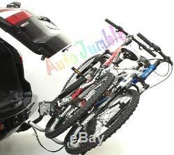 Car PLATFORM FOUR BIKE CYCLE RACK towball tow bar ball mounted carrier TILTING