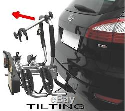 Car PLATFORM TWO BIKE CYCLE RACK towball tow bar ball mounted carrier TILTING