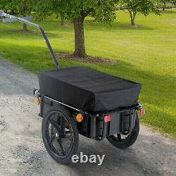 Cargo Trailer Bike WithCarrier Utility Luggage Bike Trailer Luggage Carrier Dog