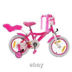 Cosmic Girls Princess 14 Inch Bicycle Cycle Cycling Steel Frame Dolly Carrier